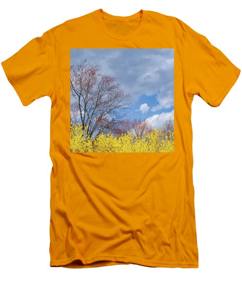 Men's T-Shirt (Slim Fit) featuring the photograph Spring 2017 Square by Bill Wakeley