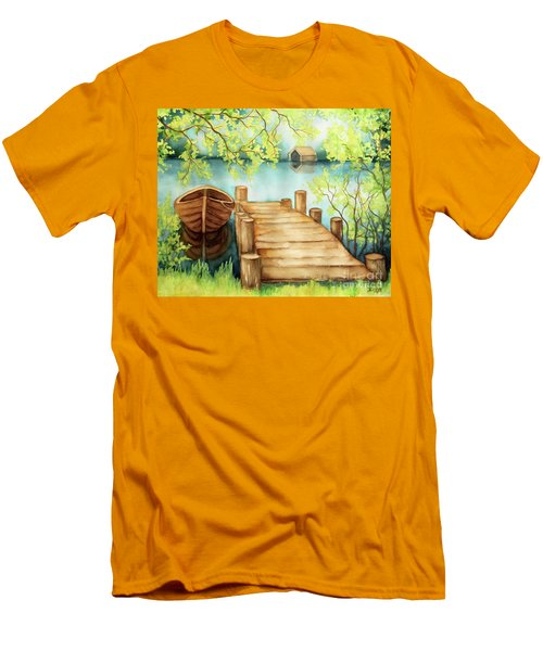 Spring Boat Men's T-Shirt (Athletic Fit)