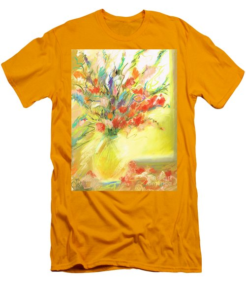 Men's T-Shirt (Slim Fit) featuring the painting Spring Bouquet by Frances Marino