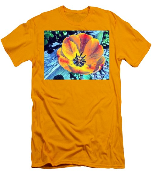 Men's T-Shirt (Athletic Fit) featuring the photograph Spring Flower Bloom by Derek Gedney