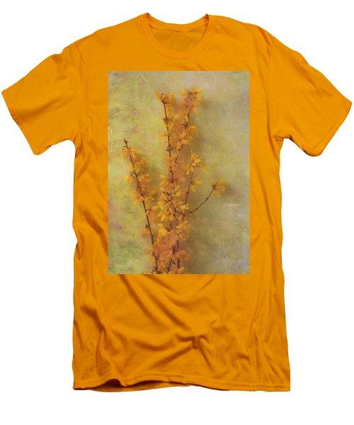 Spring Forsythia Men's T-Shirt (Slim Fit) by Catherine Alfidi