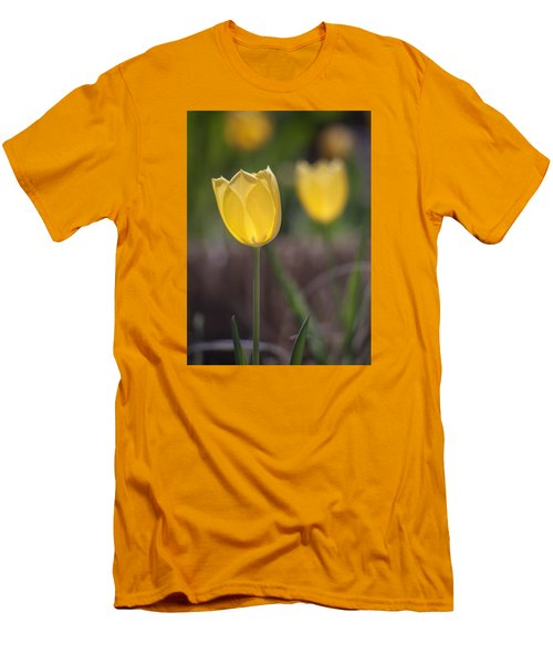 Spring Happiness Men's T-Shirt (Slim Fit) by Morris  McClung
