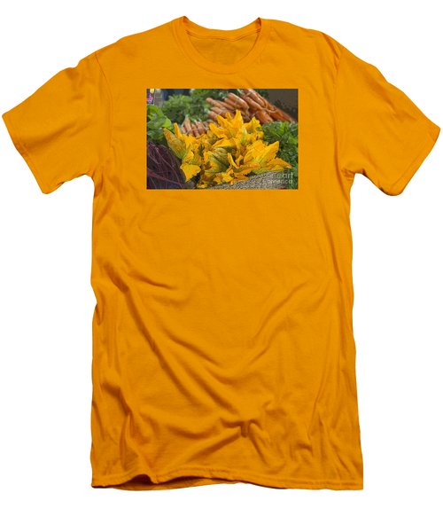 Men's T-Shirt (Slim Fit) featuring the photograph Squash Blossoms by Jeanette French