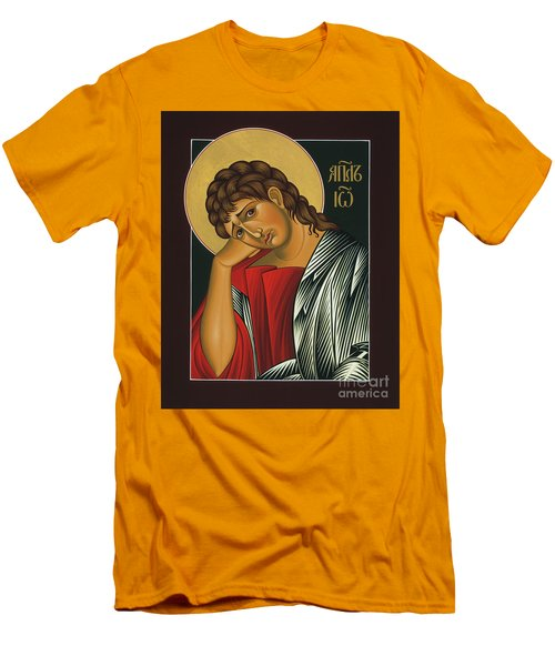 Men's T-Shirt (Slim Fit) featuring the painting St. John The Apostle 037 by William Hart McNichols