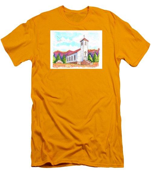 St. Peter's Catholic Church, Fayette, Mi Men's T-Shirt (Slim Fit) by Carlos G Groppa