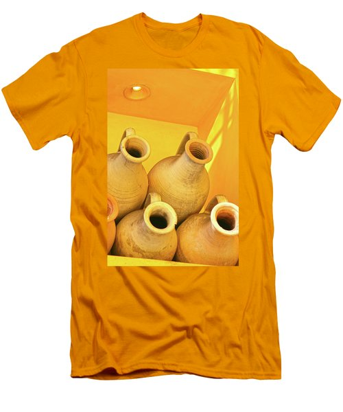 Stacked Yellow Jars Men's T-Shirt (Athletic Fit)