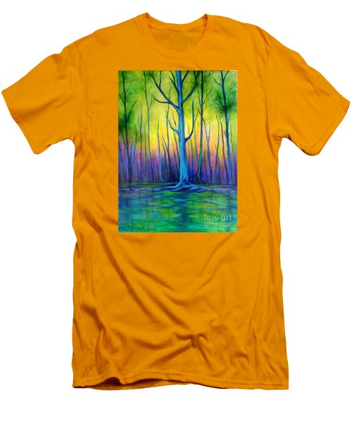 Men's T-Shirt (Slim Fit) featuring the painting Standing Tall  by Alison Caltrider
