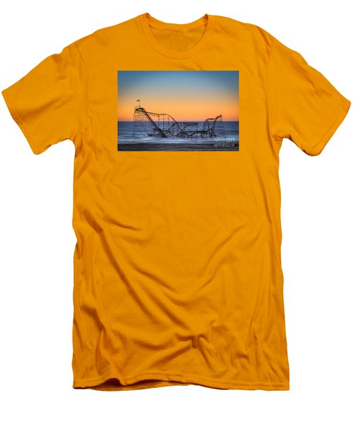 Star Jet Roller Coaster Ride  Men's T-Shirt (Athletic Fit)