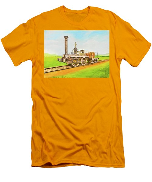 Steam Engine Mississippi Men's T-Shirt (Athletic Fit)