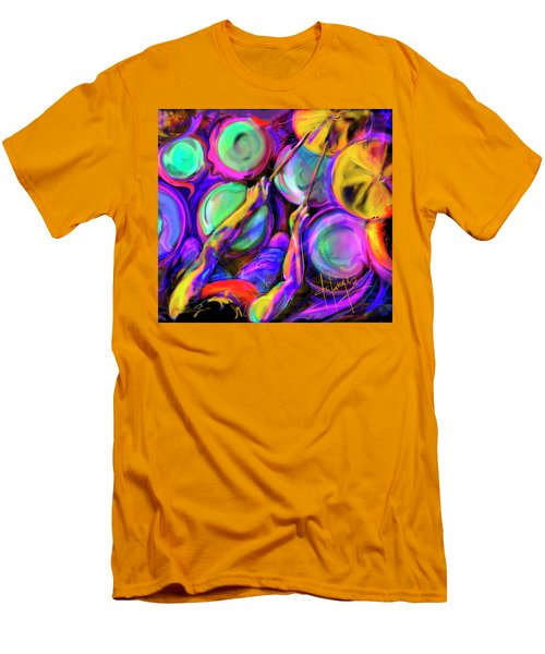 Men's T-Shirt (Slim Fit) featuring the painting Sticks And Skins by DC Langer