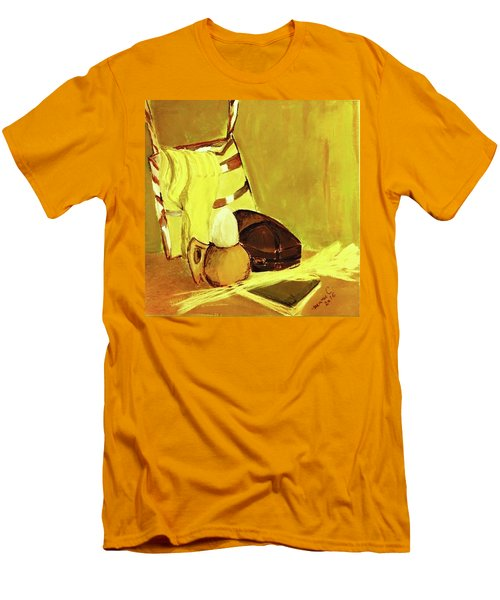Still Life With Wool Socks Men's T-Shirt (Slim Fit) by Manuela Constantin
