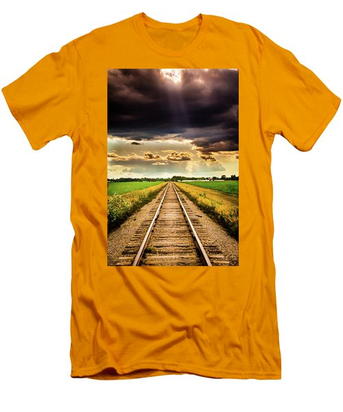 Stormy Tracks Men's T-Shirt (Athletic Fit)