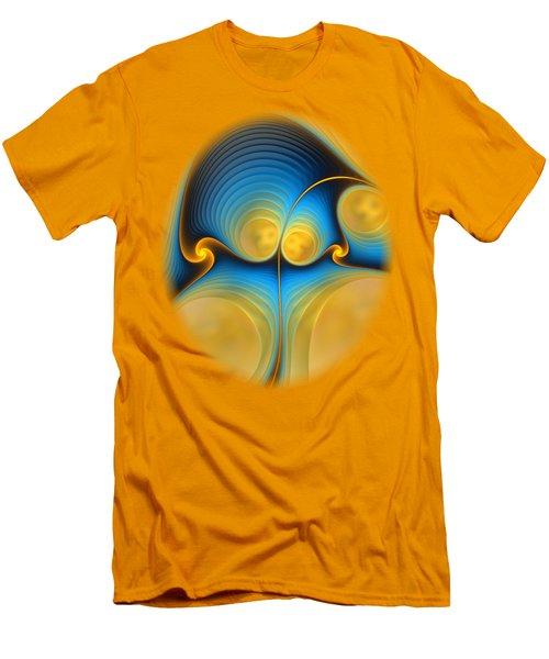 Men's T-Shirt (Slim Fit) featuring the digital art Storyline by Anastasiya Malakhova