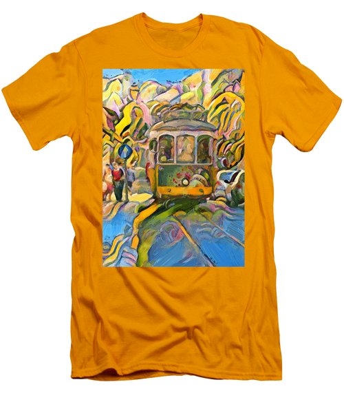Street Car Lisbon Men's T-Shirt (Athletic Fit)