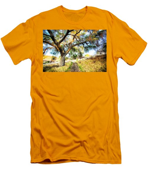 Strolling Down The Path Men's T-Shirt (Slim Fit) by Carol Crisafi