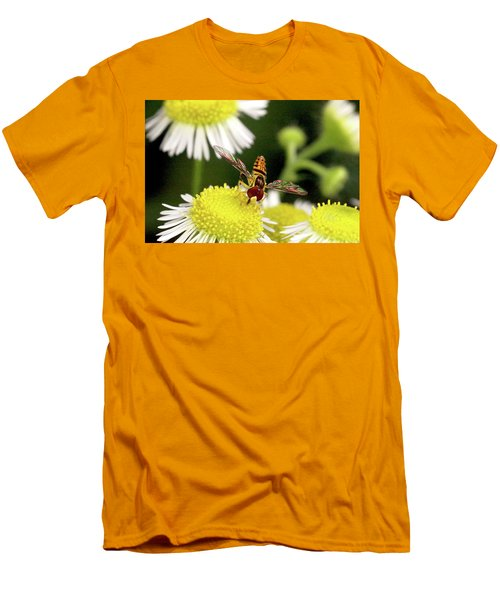 Men's T-Shirt (Slim Fit) featuring the photograph Sugar Bee Wings by Meta Gatschenberger
