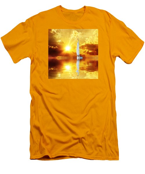 Summer Sun And Fun Men's T-Shirt (Slim Fit) by Gabriella Weninger - David
