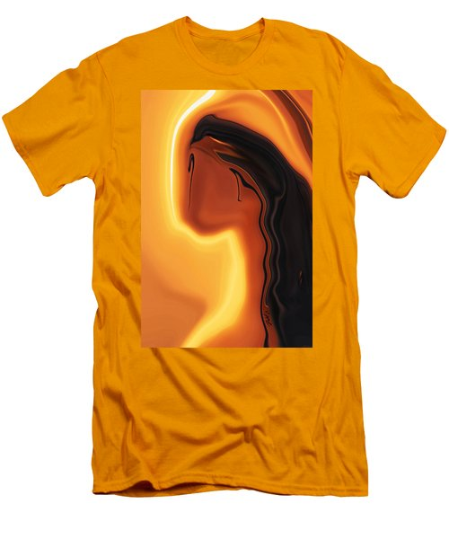 Men's T-Shirt (Slim Fit) featuring the digital art Sun-kissed by Rabi Khan