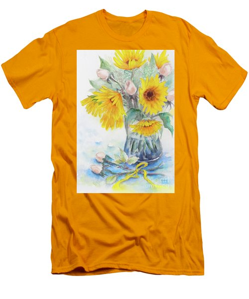 Sunflower-4 Men's T-Shirt (Athletic Fit)