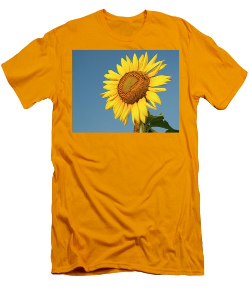 Sunflower And Blue Sky Men's T-Shirt (Athletic Fit)