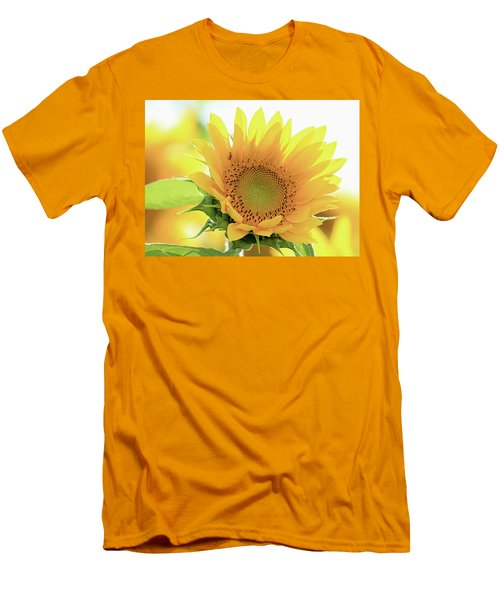 Sunflower In Golden Glow Men's T-Shirt (Athletic Fit)