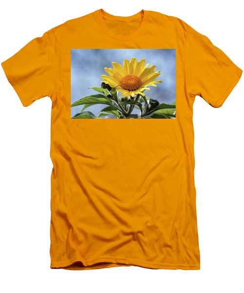 Men's T-Shirt (Slim Fit) featuring the photograph Sunflower  by Saija Lehtonen