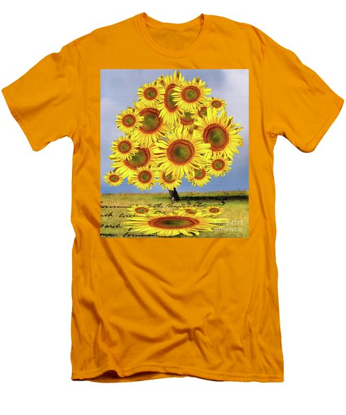 Sunflower Tree Men's T-Shirt (Athletic Fit)