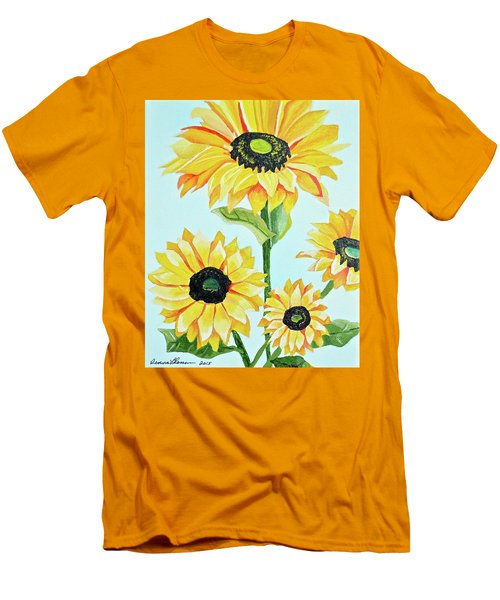Sunflowers  Men's T-Shirt (Slim Fit) by Donna Blossom