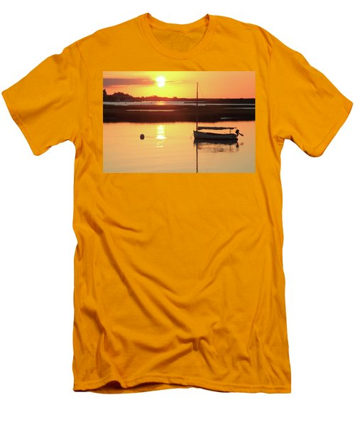 Men's T-Shirt (Slim Fit) featuring the photograph Sunrise At Bass River by Roupen  Baker