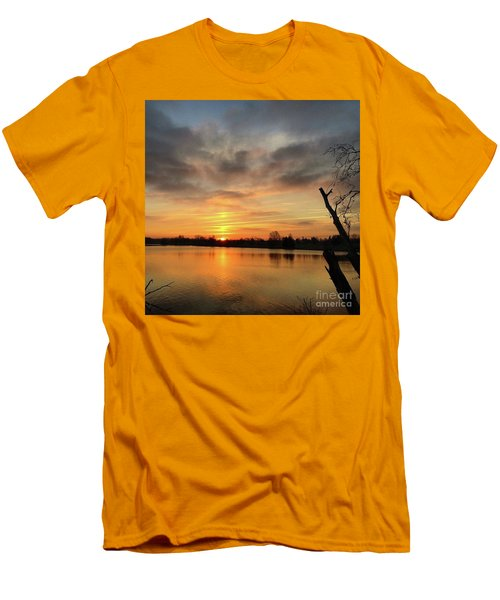 Men's T-Shirt (Slim Fit) featuring the photograph Sunrise At Jacobson Lake by Sumoflam Photography