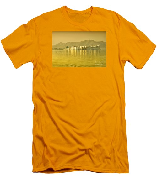 Men's T-Shirt (Athletic Fit) featuring the photograph Sunrise At Pichola Lake Palace by Yew Kwang