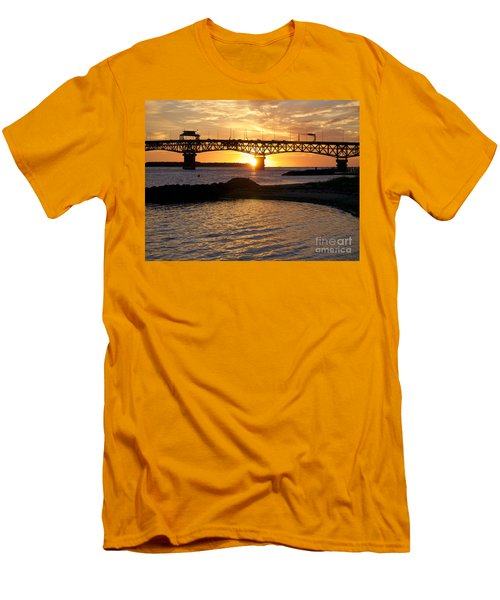 Sunrise Under Coleman Bridge Men's T-Shirt (Athletic Fit)