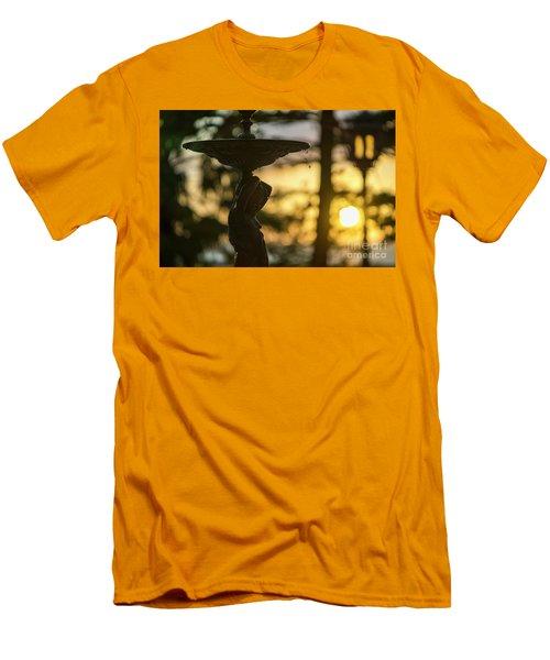 Men's T-Shirt (Athletic Fit) featuring the photograph Sunset At Alameda Apodaca Cadiz Spain by Pablo Avanzini