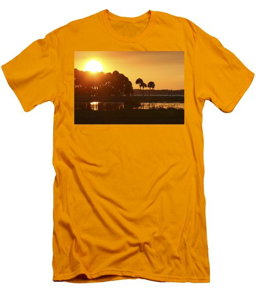 Sunset At Myakka River State Park In Florida, Usa Men's T-Shirt (Athletic Fit)