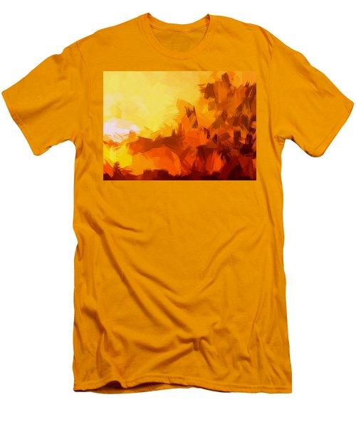 Sunset In Valhalla Men's T-Shirt (Slim Fit) by Paulo Guimaraes
