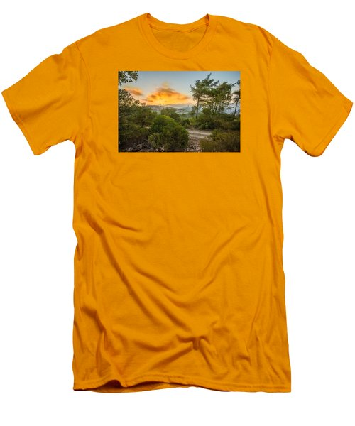 Sunset On Carmel Mountain 2 Men's T-Shirt (Athletic Fit)
