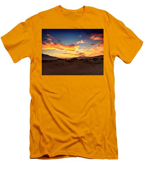 Sunset Over The Desert Men's T-Shirt (Slim Fit) by Chris Tarpening