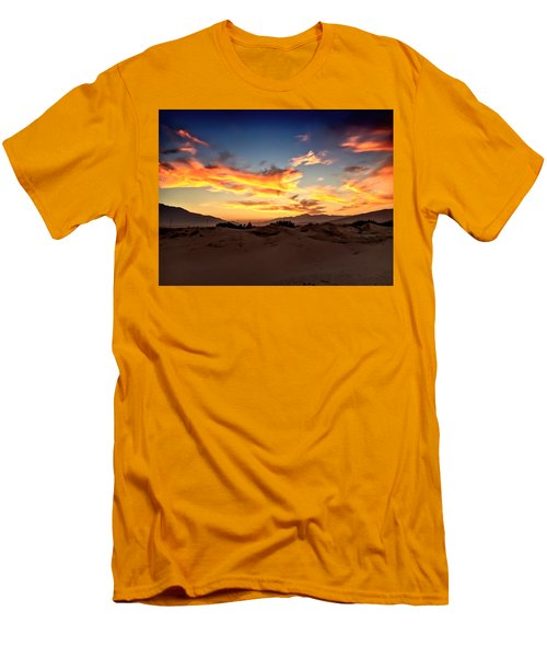 Sunset Over The Desert Men's T-Shirt (Athletic Fit)