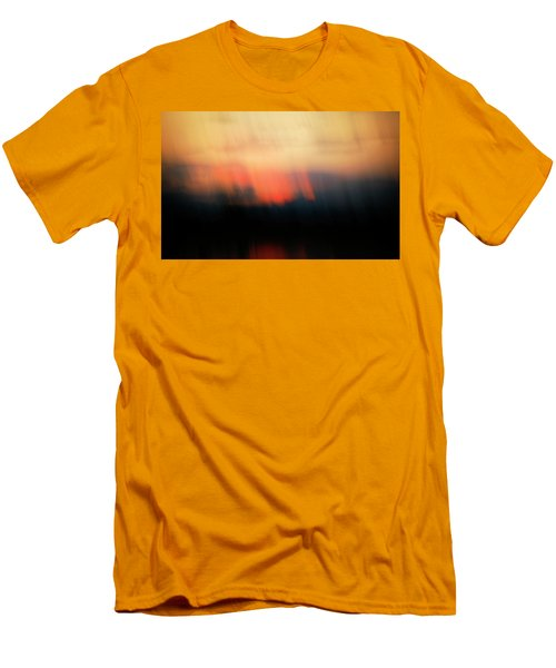 Men's T-Shirt (Slim Fit) featuring the photograph Sunset Raining Down by Marilyn Hunt