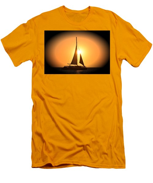 Sunset Sail Men's T-Shirt (Slim Fit) by Gary Smith