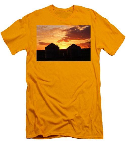 Sunset Silos Men's T-Shirt (Slim Fit) by Jana Russon