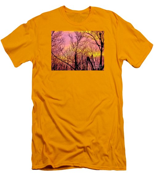 Sunset Through The Trees Men's T-Shirt (Slim Fit) by Craig Walters