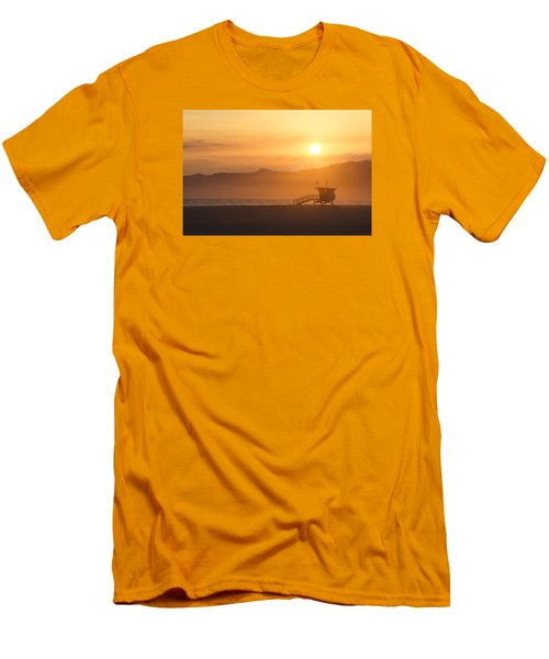 Sunset Venice Beach  Men's T-Shirt (Slim Fit) by Christina Lihani
