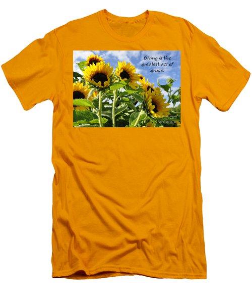 Men's T-Shirt (Slim Fit) featuring the photograph Sunshine Lollipops Grace by Diane E Berry