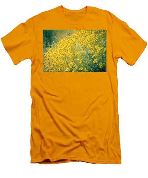 Superbloom Golden Yellow Men's T-Shirt (Slim Fit) by Amyn Nasser