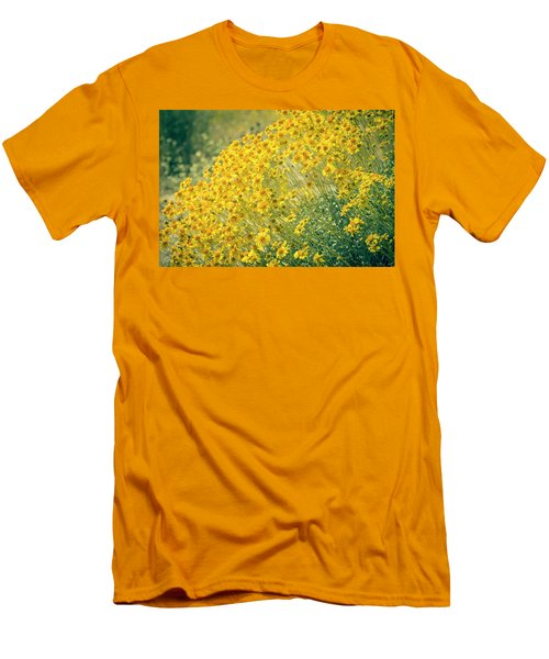 Superbloom Golden Yellow Men's T-Shirt (Athletic Fit)