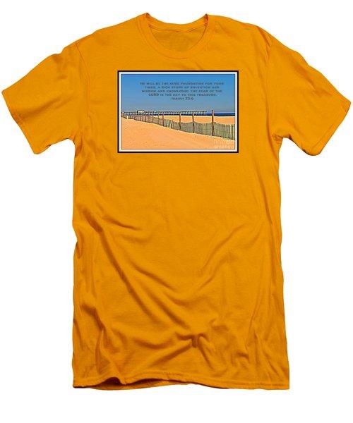 Sure Foundation Men's T-Shirt (Athletic Fit)