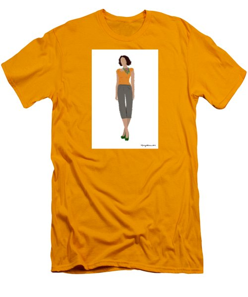Men's T-Shirt (Slim Fit) featuring the digital art Susan by Nancy Levan
