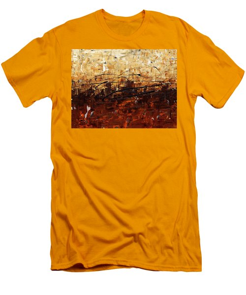 Men's T-Shirt (Slim Fit) featuring the painting Symphony by Carmen Guedez