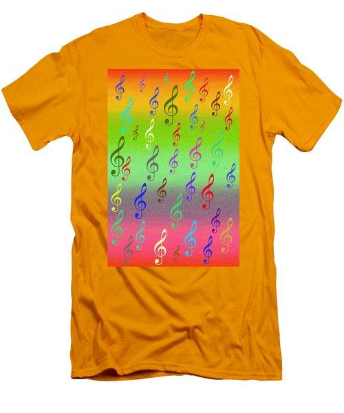 Men's T-Shirt (Slim Fit) featuring the digital art Symphony Of Colors by Angel Jesus De la Fuente